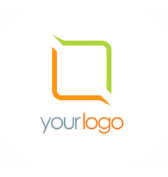 square line color logo vector image