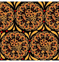 The traditional Russian floral seamless background vector image vector image
