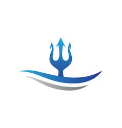 Trident logo template vector