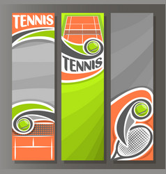 vertical banners for tennis vector image