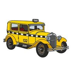 Vintage taxi vector