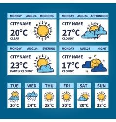 Weather Widget Sketch vector image