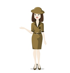 Woman tour guide vector