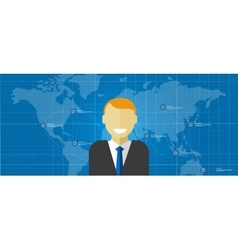 world leader global executive manager corporate vector image vector image