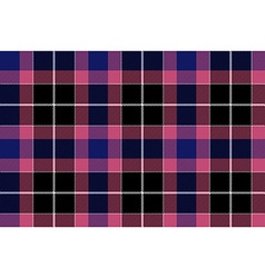 Pink blue check seamless plaid vector image