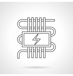 Electric warm floor flat line icon vector