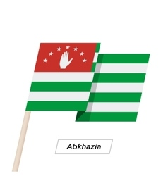 Abkhazia ribbon waving flag isolated on white vector