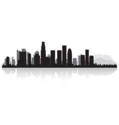Los angeles usa city skyline silhouette vector