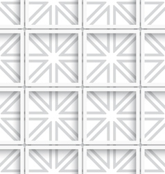 Seamless white layered net background vector