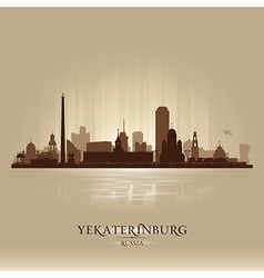 Yekaterinburg russia skyline city silhouette vector