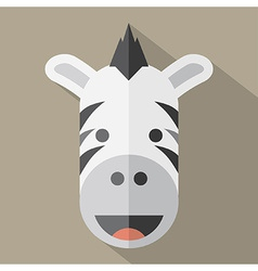 Modern flat design zebra icon vector