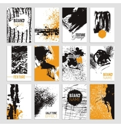 Grunge Texture Card Set vector image