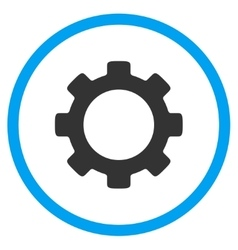 Gear rounded icon vector