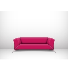 Interior with pink sofa vector