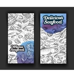 Seafood template design menu restaurant or diner vector
