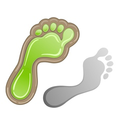 Green carbon foot print vector