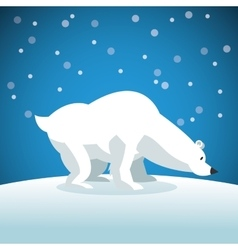 Snowbear icon snowing background graphic vector