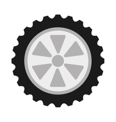 Wheel car isolated icon design vector