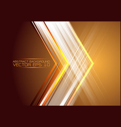 abstract arrow light on gold design modern future vector image vector image