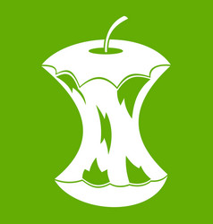 Apple core icon green vector