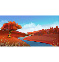 Autumn background Nature landscape graphics vector image vector image