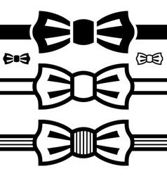 bow tie black symbols vector image