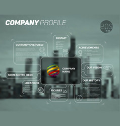 Design infographic template of company overview vector