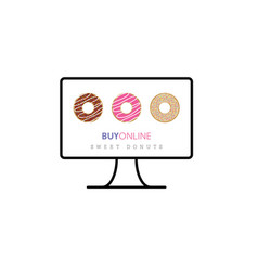 Donuts sweet buy online vector