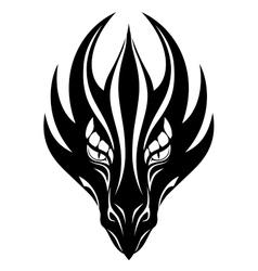 Dragon face symbol vector image