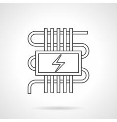 Electric warm floor flat line icon vector