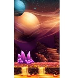 Fantastic landscape of red planet vector