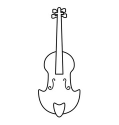fiddle classical music instrument thin line vector image vector image