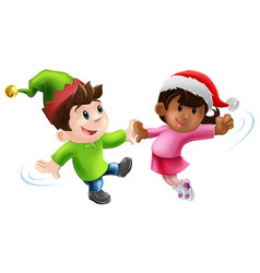 fun xmas dancers vector image