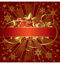 gold Christmas banner vector image vector image