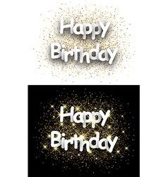Happy birthday paper cards vector