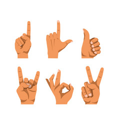 human finger gesturing flat poster on white vector image