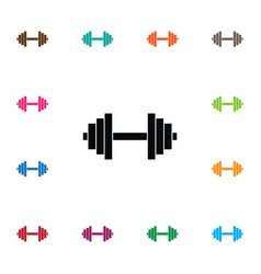 Isolated weight icon powerlifting element vector