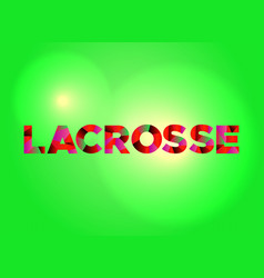 Lacrosse concept colorful word art vector