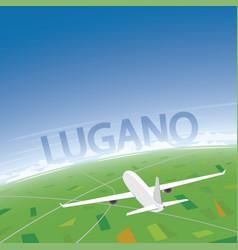 Lugano flight destination vector