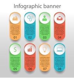 Moden infographics banner vector