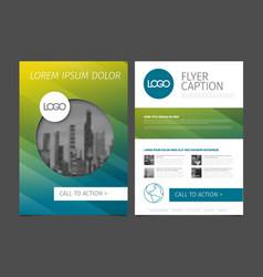 Modern brochure template flyer design template vector