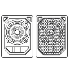 Professional concert tour array subwoofer speakers vector