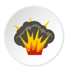 Projectile explosion icon circle vector