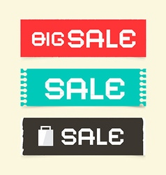 Sale Paper Retro Labels Set vector image