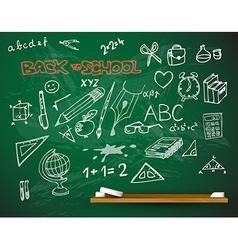 school blackboard vector image