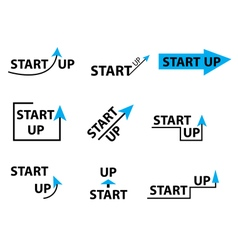 Set startup logo element startup company logo vector image