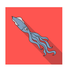 squid icon in flat style isolated on white vector image vector image