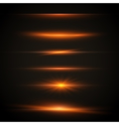 Sun Lens Flare Effect Transparent vector image vector image