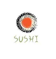 sushi roll abstract design template vector image