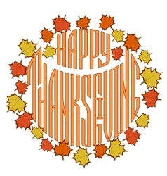 Thanksgiving day greetings card vector